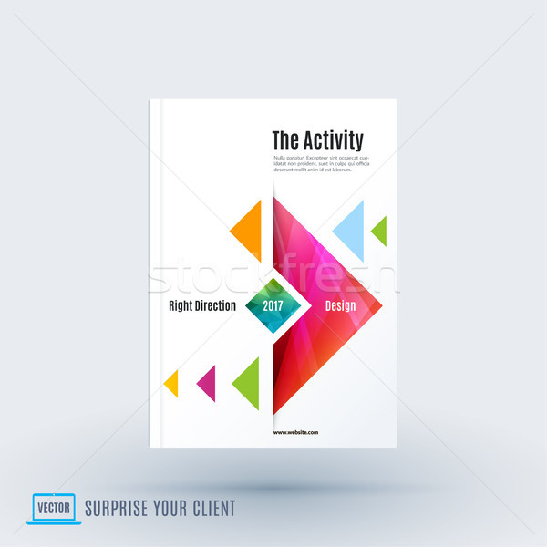 Stock photo: Abstract design of business vector brochure for brand printing
