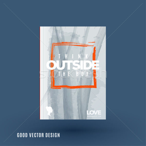 Abstract design of business vector brochure, template cover, playbill Stock photo © Diamond-Graphics