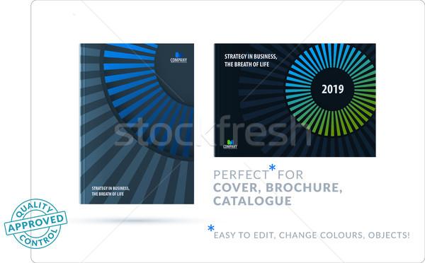 şablon mavi yeşil yaratıcı soyut dizayn Stok fotoğraf © Diamond-Graphics