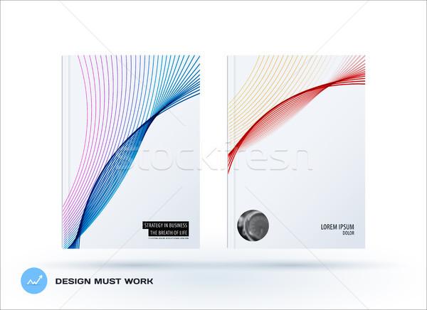 Brochure ontwerp zachte sjabloon kleurrijk moderne Stockfoto © Diamond-Graphics