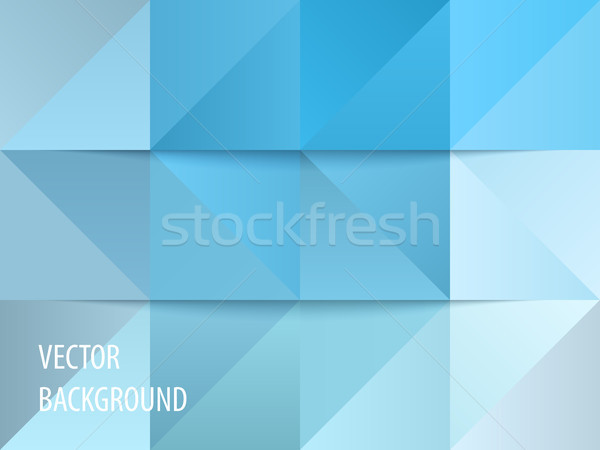 Abstract background design, vector elements for graphic template. Colourful blue elements for brandi Stock photo © Diamond-Graphics