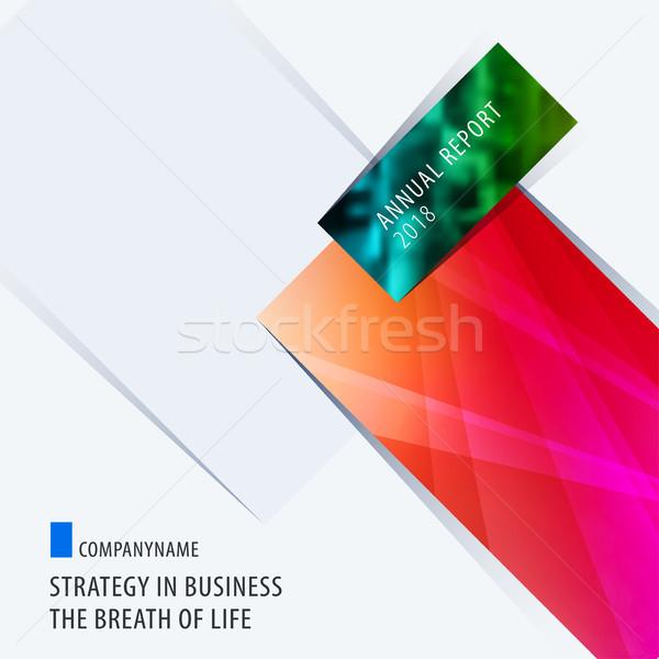 Absztrakt terv színes vektor elemek modern Stock fotó © Diamond-Graphics