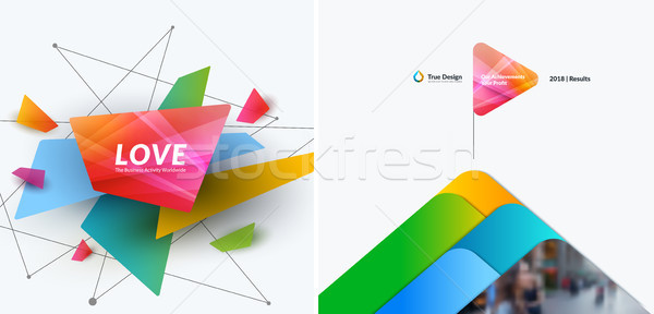 Abstrakten Vektor Design Elemente Grafik Layout Stock foto © Diamond-Graphics