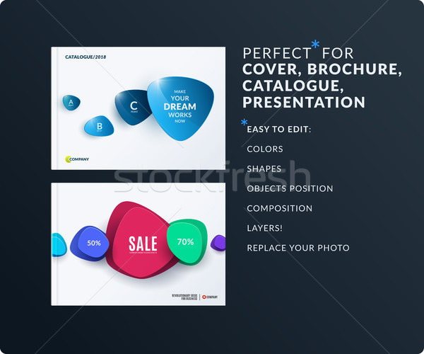 Iş ayarlamak dizayn broşür soyut Stok fotoğraf © Diamond-Graphics