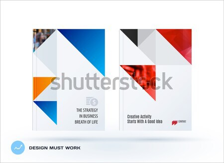 Abstract design of colourful vector elements for modern background with triangles shapes for busines Stock photo © Diamond-Graphics