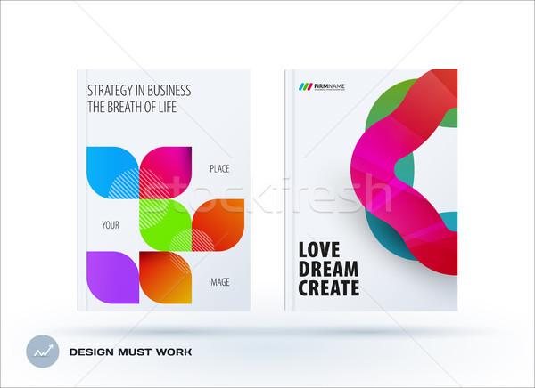 Set of design brochure, abstract annual report Stock photo © Diamond-Graphics