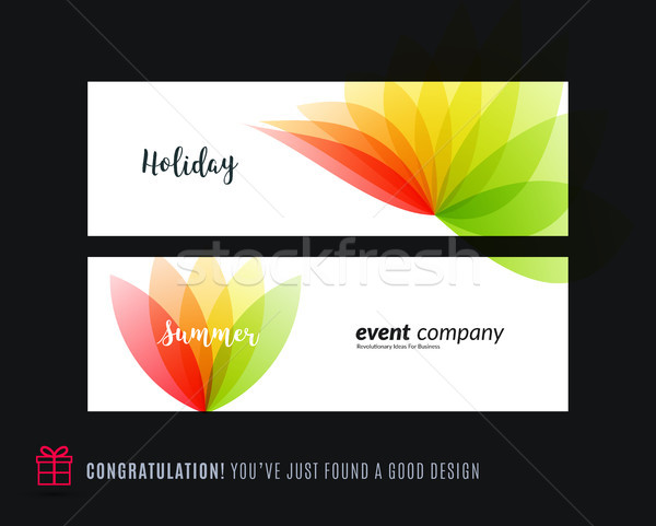 Abstrato vetor conjunto horizontal site banners Foto stock © Diamond-Graphics