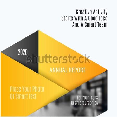 Streszczenie broszura materiału projektu stylu kolorowy Zdjęcia stock © Diamond-Graphics