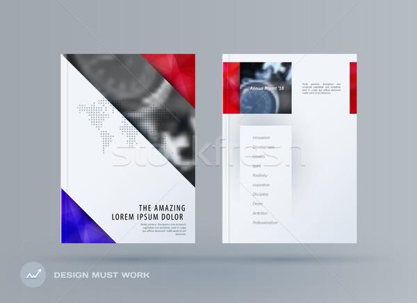 Broşür dizayn şablon renkli modern soyut Stok fotoğraf © Diamond-Graphics