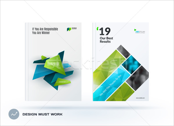 Affaires design brochure résumé annuel Photo stock © Diamond-Graphics