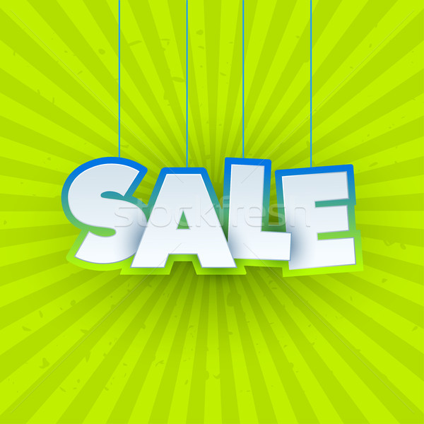 Sale banner template design. Special offer, eco green colourful letters for shopping, mall, trade, r Stock photo © Diamond-Graphics