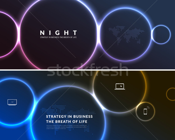 Abstract night party banner in glamour design style, modern flyer in A4 with colourful background Stock photo © Diamond-Graphics