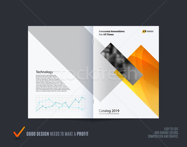 Abstract brochure design rettangolare stile colorato Foto d'archivio © Diamond-Graphics