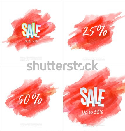 Sale 50% off artistic banner template design on red sketch background. Special offer, colourful lett Stock photo © Diamond-Graphics