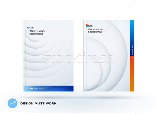 Brochure design modèle coloré bleu Creative Photo stock © Diamond-Graphics
