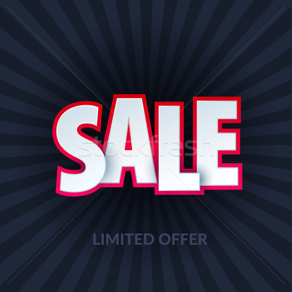 Sale banner template design. Special offer, red pink colourful letters for shopping, mall, trade, re Stock photo © Diamond-Graphics