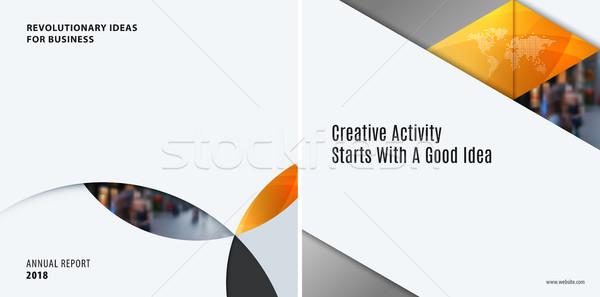 Ingesteld moderne ontwerp abstract sjablonen kleurrijk Stockfoto © Diamond-Graphics