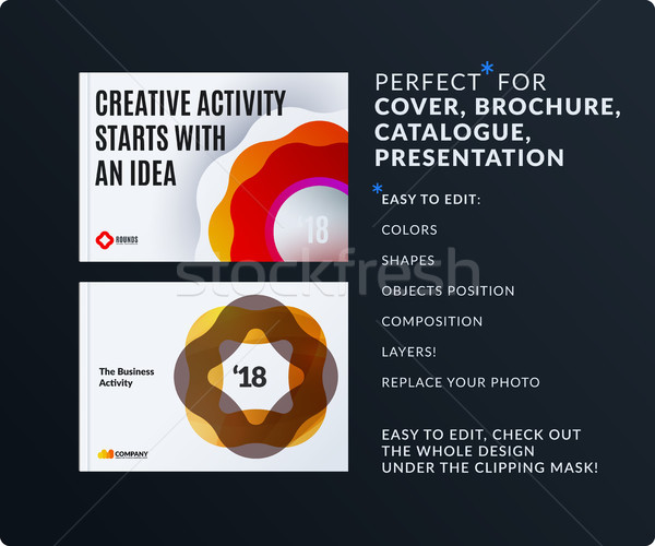 Presentation. Abstract vector set of modern horizontal templates with colourful wave Stock photo © Diamond-Graphics