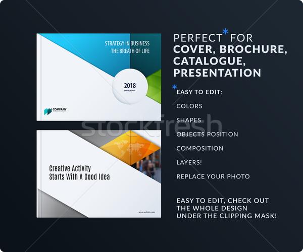 Materiale design presentazione abstract colorato vettore Foto d'archivio © Diamond-Graphics