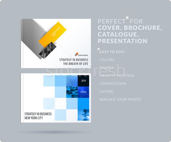 Piazza design presentazione modello colorato ombre Foto d'archivio © Diamond-Graphics