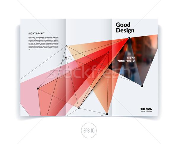 Terv üzlet brosúra sablon absztrakt éves Stock fotó © Diamond-Graphics