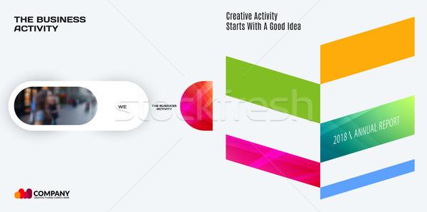 Conjunto abstrato vetor projeto gráfico modelo Foto stock © Diamond-Graphics