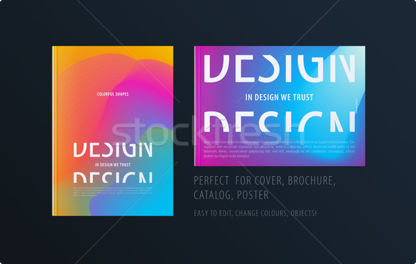 Abstract kleurrijk grafisch ontwerp brochure vloeistof vloeibare Stockfoto © Diamond-Graphics