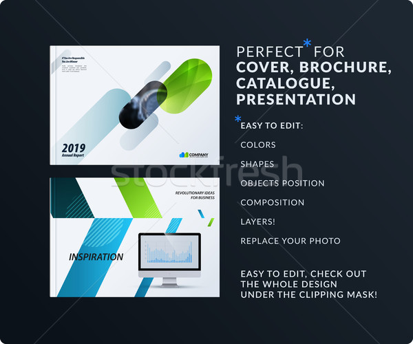 Presentation. Abstract vector set of modern horizontal templates with colourful rounded rectangles f Stock photo © Diamond-Graphics