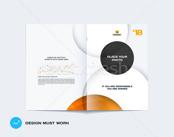 Abstract Geel grijs brochure ontwerp moderne Stockfoto © Diamond-Graphics