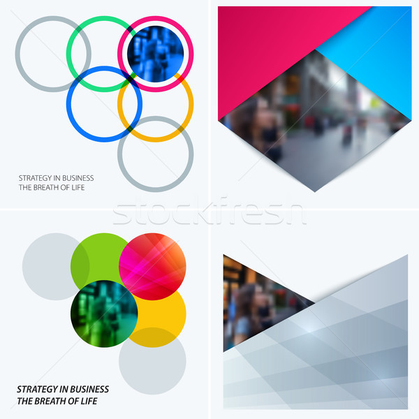 Abstrato projeto colorido vetor elementos formas Foto stock © Diamond-Graphics