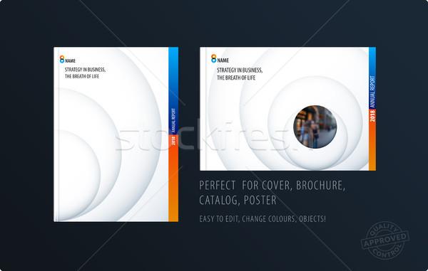 Brosúra terv sablon színes kreatív absztrakt Stock fotó © Diamond-Graphics