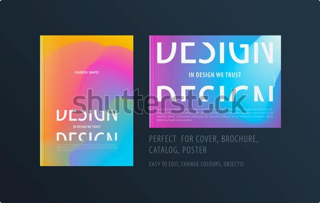 Abstract colorato graphic design brochure fluido liquido Foto d'archivio © Diamond-Graphics