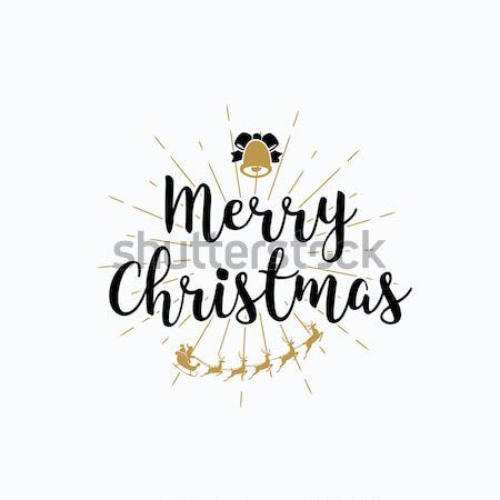 Merry Christmas lettering typography. Handwriting text design wi Stock photo © Diamond-Graphics