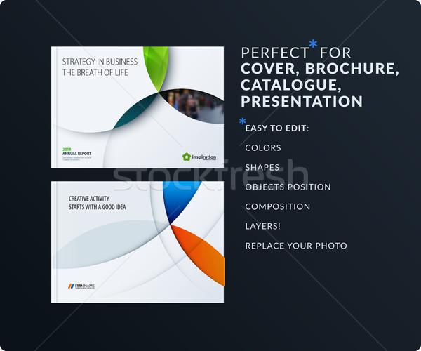 Materiale design presentazione modello colorato Foto d'archivio © Diamond-Graphics