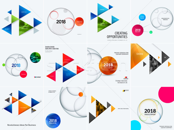 Set of abstract vector design for graphic template. Creative modern business background. Stock photo © Diamond-Graphics