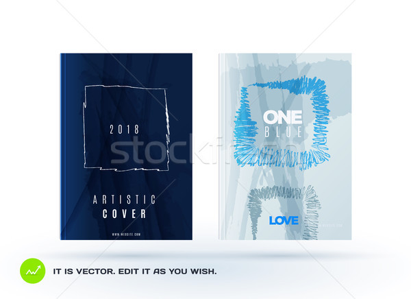 Set of abstract design of business vector brochure, template cover, playbill, poster Stock photo © Diamond-Graphics