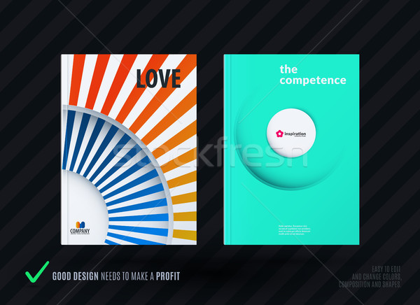 Kreative Design Business Broschüre Set abstrakten Stock foto © Diamond-Graphics