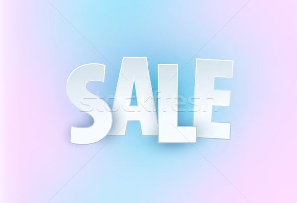 Sale abstract banner template design on soft elegant background. Special offer, colourful letters fo Stock photo © Diamond-Graphics
