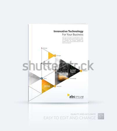 Creative design brochure résumé annuel Photo stock © Diamond-Graphics