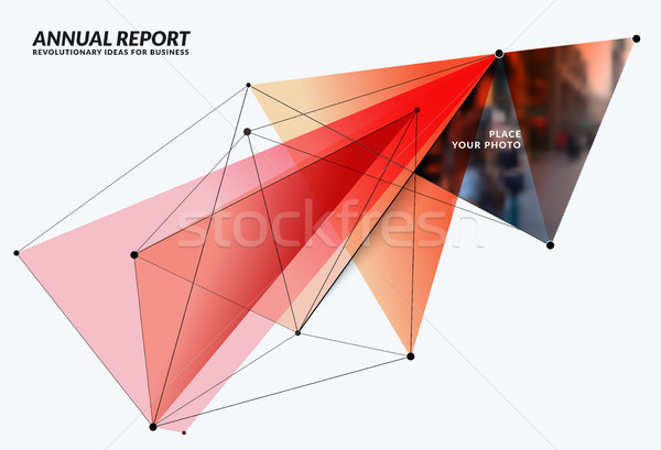 Abstract vector design elements for graphic template. Stock photo © Diamond-Graphics