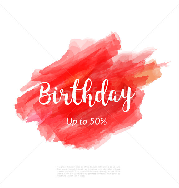 Birthday artistic banner template design on red sketch background. Special offer, colourful letters  Stock photo © Diamond-Graphics