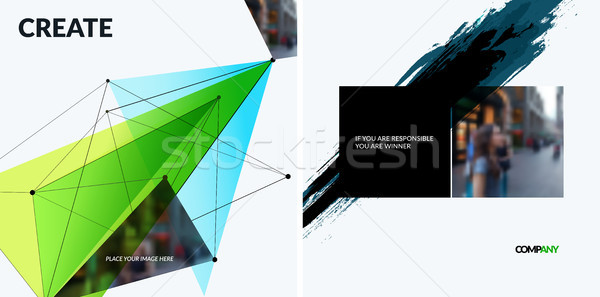 Set of abstract vector design elements for graphic template. Stock photo © Diamond-Graphics