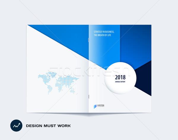 Abstrato colorido azul folheto materialismo projeto Foto stock © Diamond-Graphics