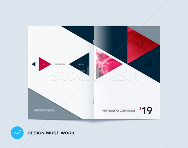 Abstract kleurrijk brochure materiaal ontwerp papier Stockfoto © Diamond-Graphics