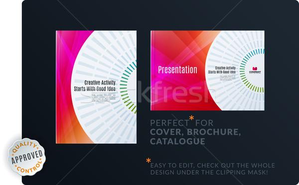 Plantilla creativa resumen mínimo diseno folleto Foto stock © Diamond-Graphics