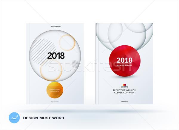 Stockfoto: Brochure · ontwerp · sjabloon · kleurrijk · creatieve · abstract