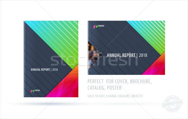 Abstract brochure materiale design stile colorato Foto d'archivio © Diamond-Graphics
