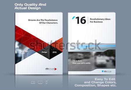 Streszczenie broszura projektu nowoczesne katalog okładka Zdjęcia stock © Diamond-Graphics