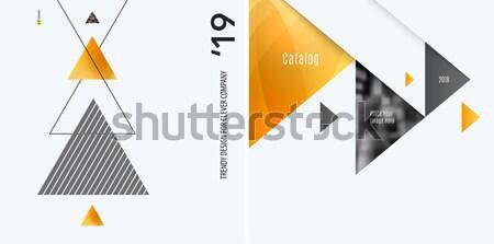Abstrato materialismo projeto estilo colorido vetor Foto stock © Diamond-Graphics