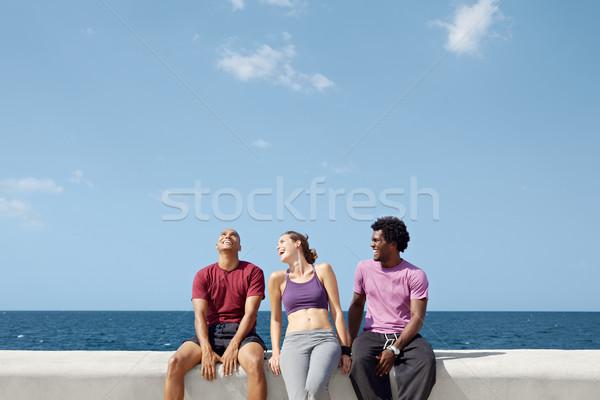 Grupy ludzi śmiechem gry hiszpańskie Zdjęcia stock © diego_cervo
